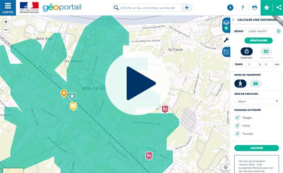 Visualisez vos déplacements sur le Géoportail
