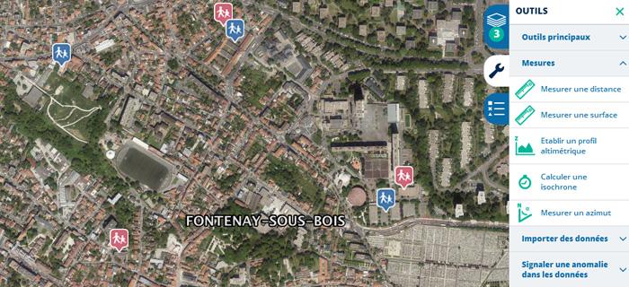 Visualisation des écoles maternelles et élémentaires à Fontenay-sous-bois.