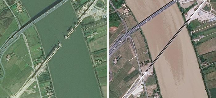 Ligne TGV entre Saint-Loubès et Saint-Romain-la-Virvée (Gironde) © IGN / Airbus Defence & Space