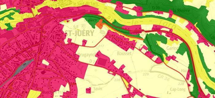Visualisation de l'occupation du sol (usage) en Midi-Pyrénées
