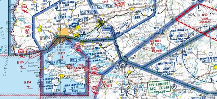 Visualisation de la carte carte aéronautique OACI 2016.