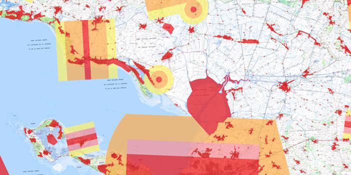 Carte de restriction pour les drones de loisir, Île de Ré et ses environs