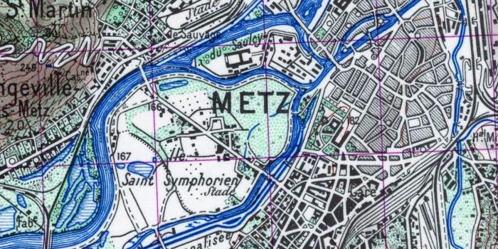 Carte de type 1922, Metz