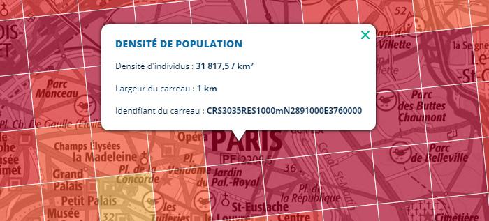 Insee – densité de population