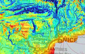 Cartes du potentiel solaire en Provence-Alpes-Côte d'Azur