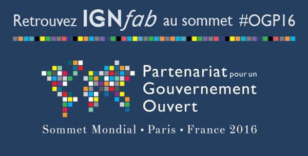 Retrouvez IGNfab au sommet #OGP16