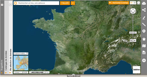 Géoportail : interface cartographique